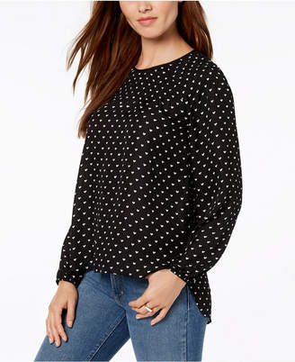Maison Jules Heart-Print Top, Created for Macy's