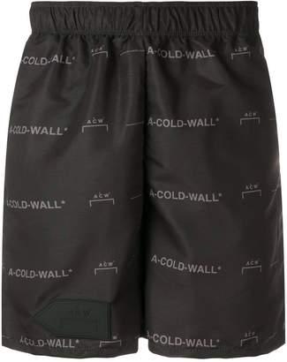 A-Cold-Wall* logo pattern bermuda shorts