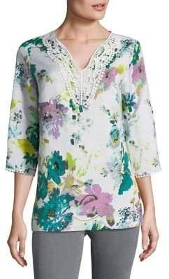 Context Plus Floral Tunic