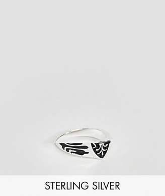 Reclaimed Vintage inspired sterling silver ring with crest exclusive at ASOS