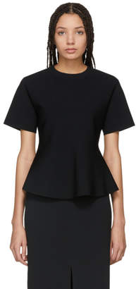Proenza Schouler Black Flare Knit Top