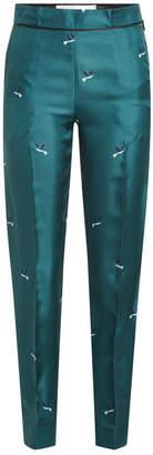 Victoria Beckham Victoria Printed Silk Jacquard Pants