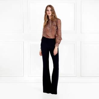 Rachel Zoe Jayne Leopard Printed Silk-Chiffon Blouse