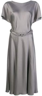Alberta Ferretti wrap back midi dress