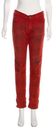 Roseanna Plaid Mid-Rise Pants