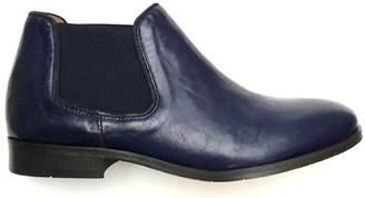 Esska Navy Leather Gortz Boot - 38 - Blue