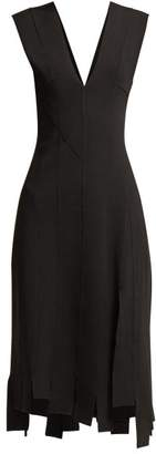 Altuzarra Tiziana Stretch Crepe Asymmetric Midi Dress - Womens - Black