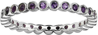 JCPenney FINE JEWELRY Personally Stackable Genuine Amethyst Sterling Silver Ring