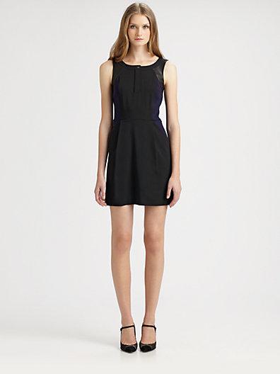 Vanessa Bruno Athe Leather-Trim Dress