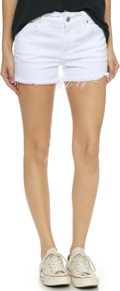 7 For All Mankind Raw Edge Cut Off Shorts $139 thestylecure.com
