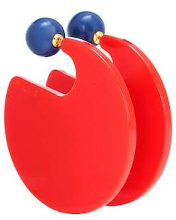 Marni Two-tone circle earrings