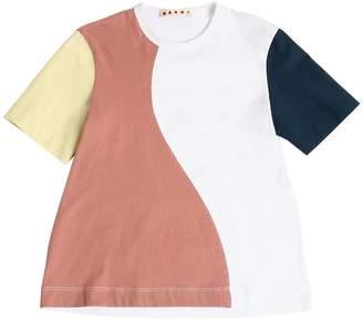 Marni Junior Cotton Jersey & Poplin T-Shirt