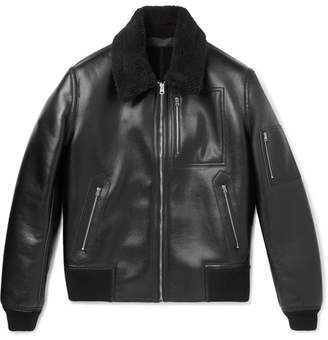 Stella McCartney Liam Faux Leather Bomber Jacket