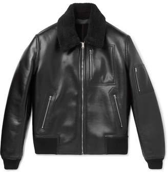 Stella McCartney Liam Faux-Leather Bomber Jacket