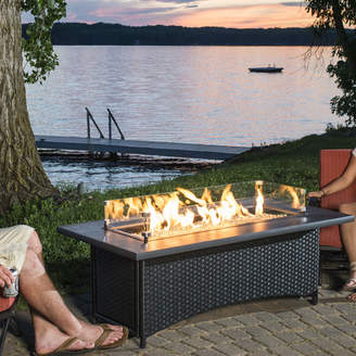 Montego The Outdoor GreatRoom Company Crystal Wicker Fire Pit Table