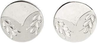 One Kings Lane Vintage Sterling Silver Wreath Cuff Links - Set of 2