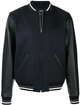 A.P.C. panelled bomber jacket