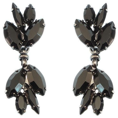 Elizabeth Cole Black Cluster Earrings
