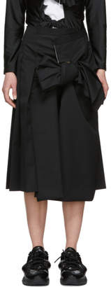 Comme des Garcons Black Bow Front Skirt