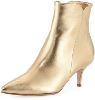 Gianvito Rossi Metallic Pointed-Toe Booties