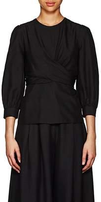 Zimmermann Women's Empire Silk Twisted Wrap Top