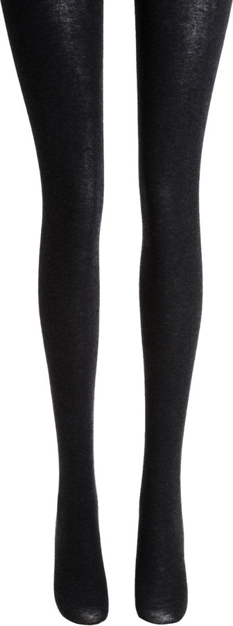 Fogal Touch Tights - Anthracite Mele