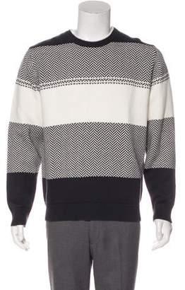 Todd Snyder Herringbone Crew Neck Sweater