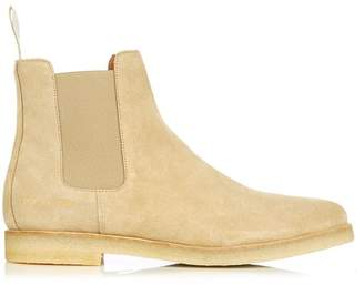 Common Projects Suede Chelsea Boots - Mens - Tan