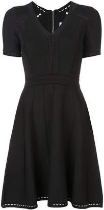 Milly flared V-neck dress