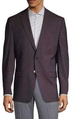 Calvin Klein Extra Slim Fit Plaid Wool Sport Jacket