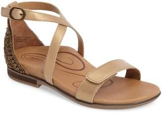 Aetrex Brenda Embellished Cross Strap Sandal