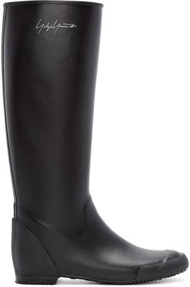 Yohji Yamamoto Black Rain Boots $690 thestylecure.com