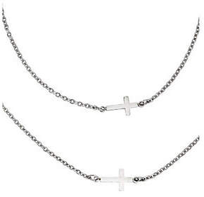 Steel by Design Stainless Steel Horizontal Cross Layered Neckla