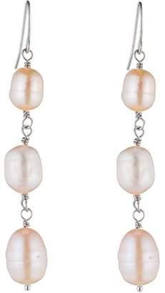 Carolee Linear Cultured Freshwater Pearl Drop Earrings