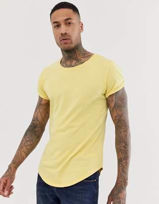 G Star G-Star Vontoni long line t-shirt in yellow