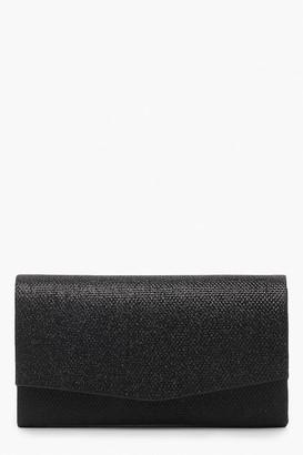 boohoo Glitter Envelope Clutch Bag & Chain