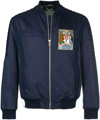 Mr & Mrs Italy Antarctic survey club patch bomber jacket