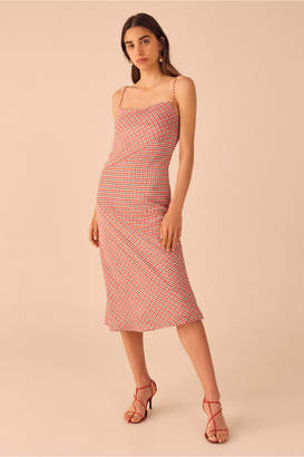 C/Meo Collective COUNTING ALL SHORT SLEEVE DRESS cherry check