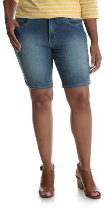 Lee Riders Women's Plus Modern Midrise Denim Bermuda Short