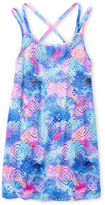 Angel Beach (Girls 7-16) Printed Crochet Knit Cover-Up