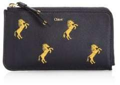 Chloé Embroidered Little Horses Leather Pouch