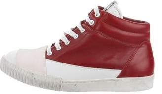 Marni Leather & Suede High-Top Sneakers