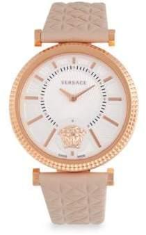 Versace Rose Goldtone Logo Watch