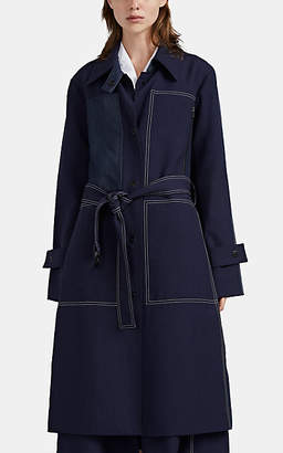 Woolmark Colovos X Prize Women's Merino Wool-Blend Trench Coat - Blue