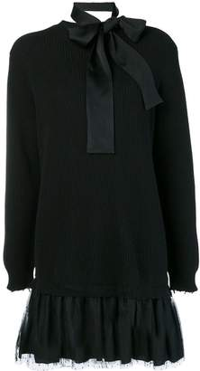 RED Valentino bow tie sweater dress