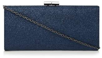 Lotus Navy Glitter 'Vibe' Clutch Bag