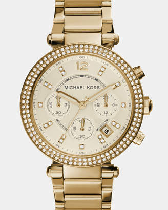 Michael Kors Parker Gold-Tone Analogue Watch