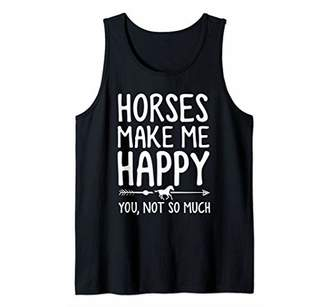Horse Shirt Horses Make Me Happy You Not So Much Gift ZSP Tank Top