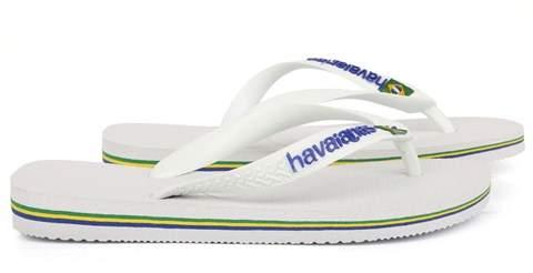 Havaianas White Brazil Flip-Flops