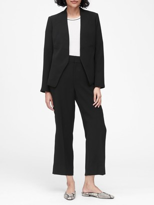 Banana Republic Petite Collarless Blazer